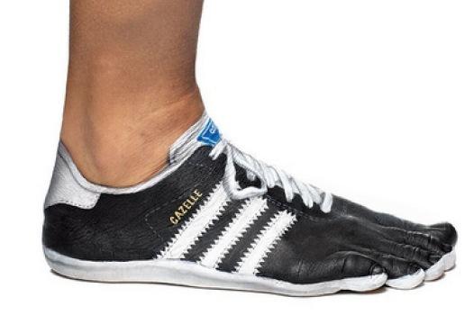 adidas painted feet